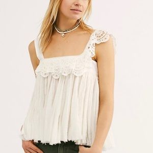FP ONE Free People Garden Party Eyelet Top Large